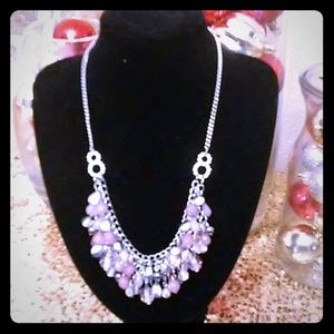 Pink & Silver necklace